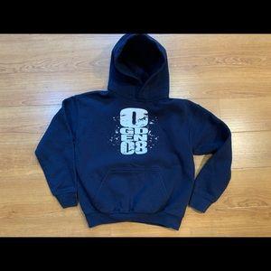 Gildan Heavy Blend Navy Hoodie Sweatshirt Boy's M